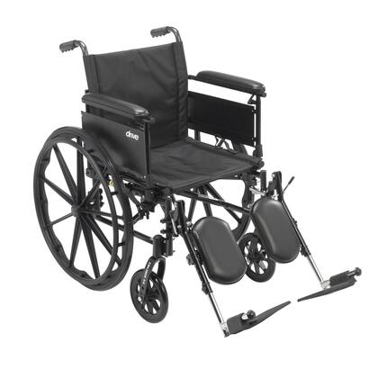 cx416adfa-elr Cruiser X4 Lightweight Dual Axle Wheelchair With Adjustable Detachable Arms  Full Arms  Elevating Leg Rests  16