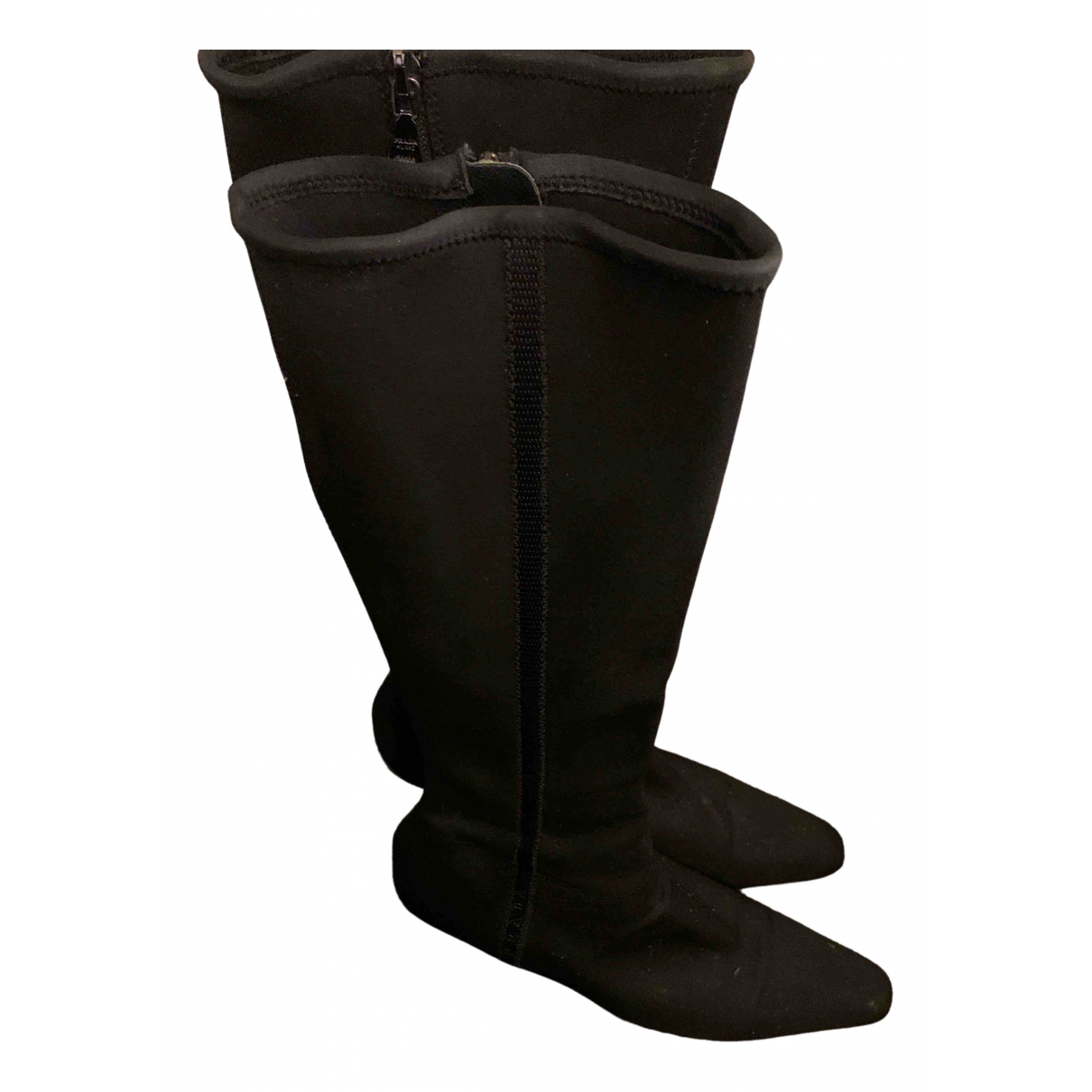 Prada \N Black Cloth Boots for Women 39 IT