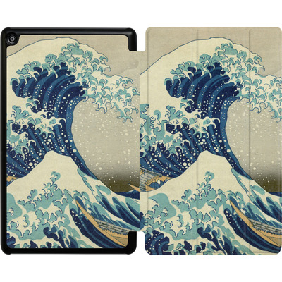 Amazon Fire HD 8 (2017) Tablet Smart Case - Great Wave Off Kanagawa By Hokusai von caseable Designs