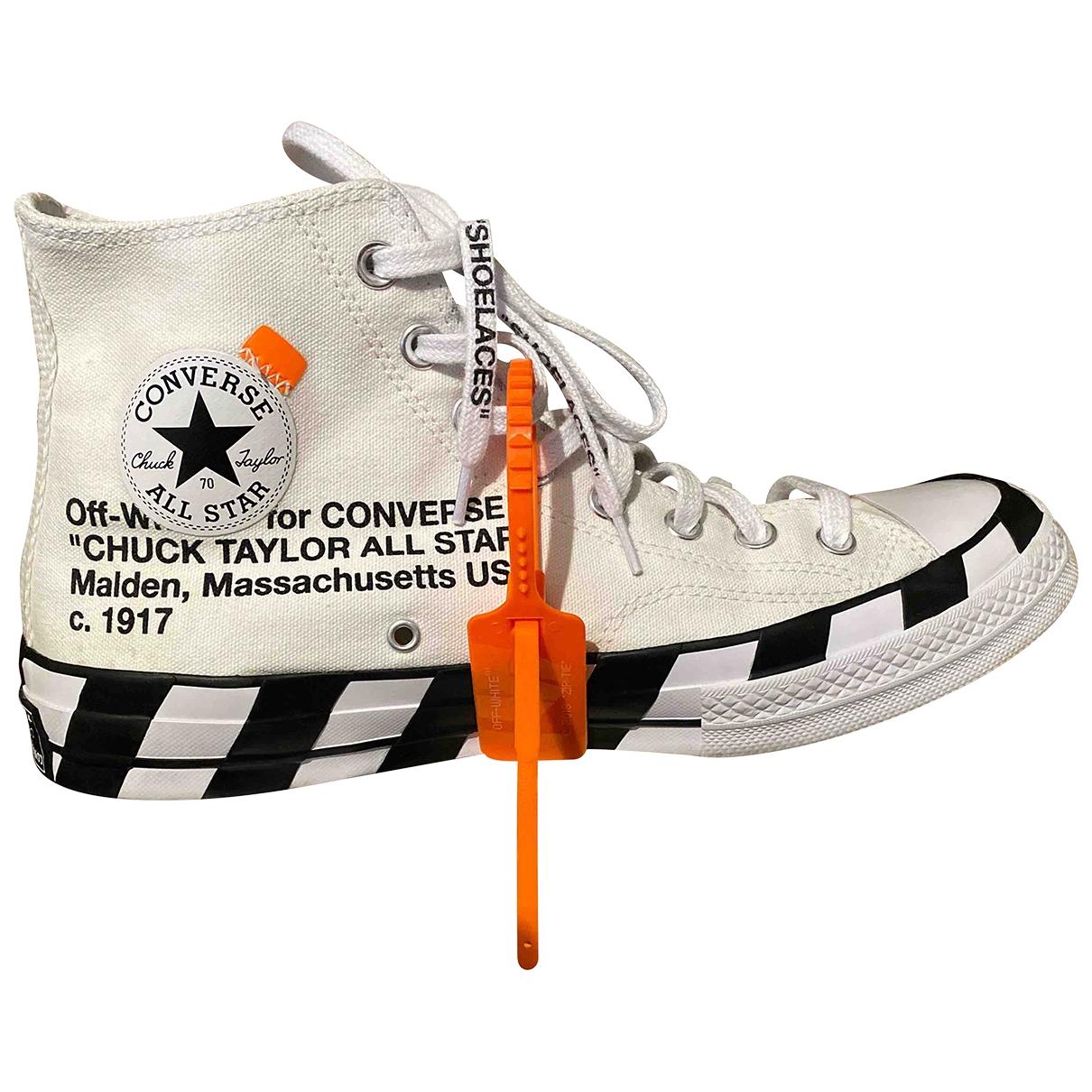 Converse X Off-white - Baskets   pour homme en toile - blanc