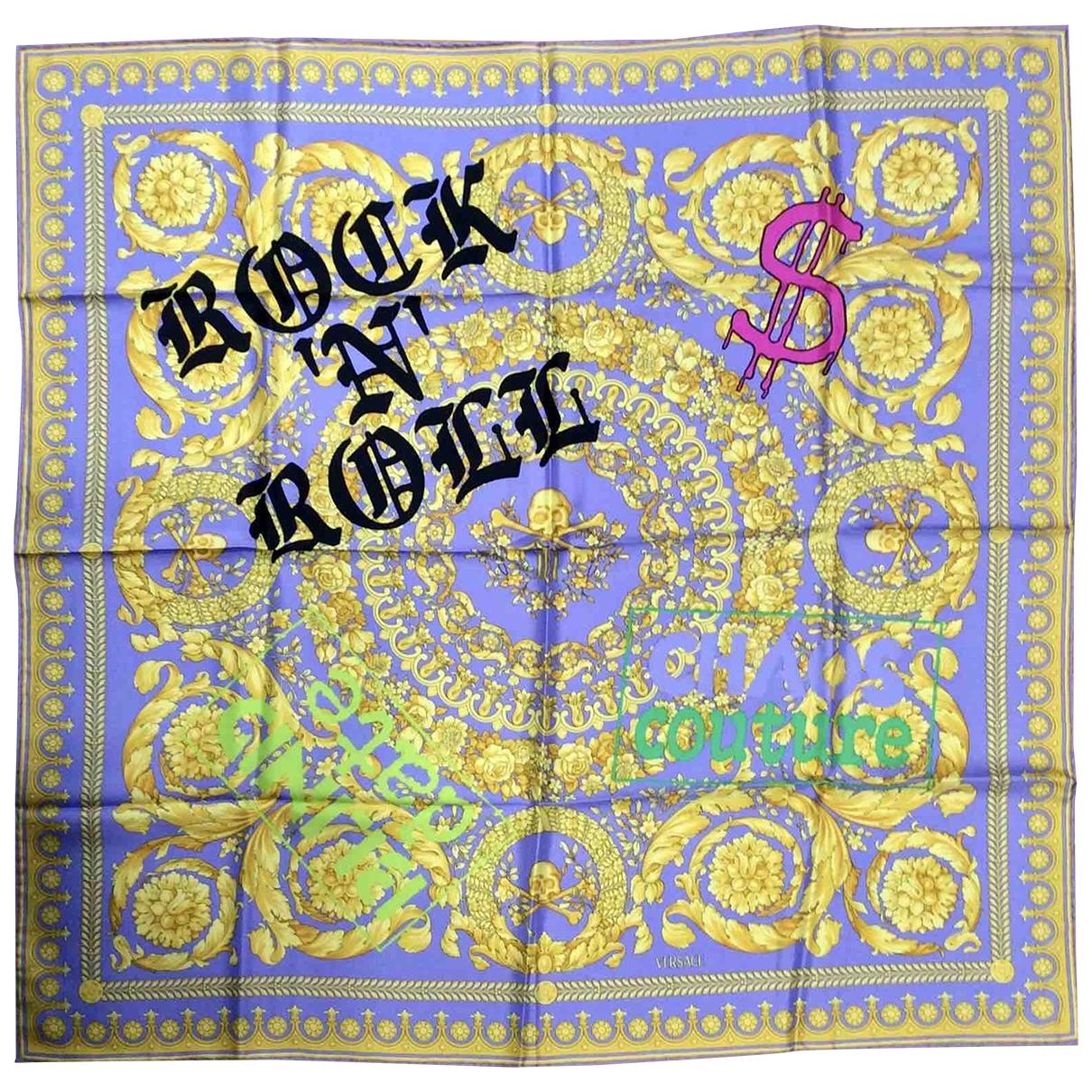 Versace - Foulard   pour femme en soie - violet