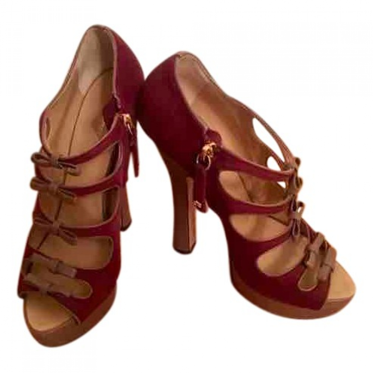 Dsquared2 \N Burgundy Leather Sandals for Women 36 EU