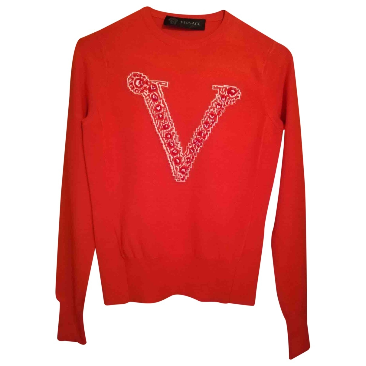 Versace - Pull   pour femme - orange