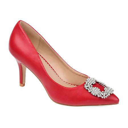 Journee Collection Womens Izzie Pumps Stiletto Heel, 8 1/2 Medium, Red