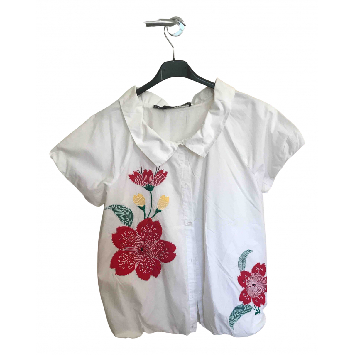 Moschino Love N White Cotton  top for Women 40 IT