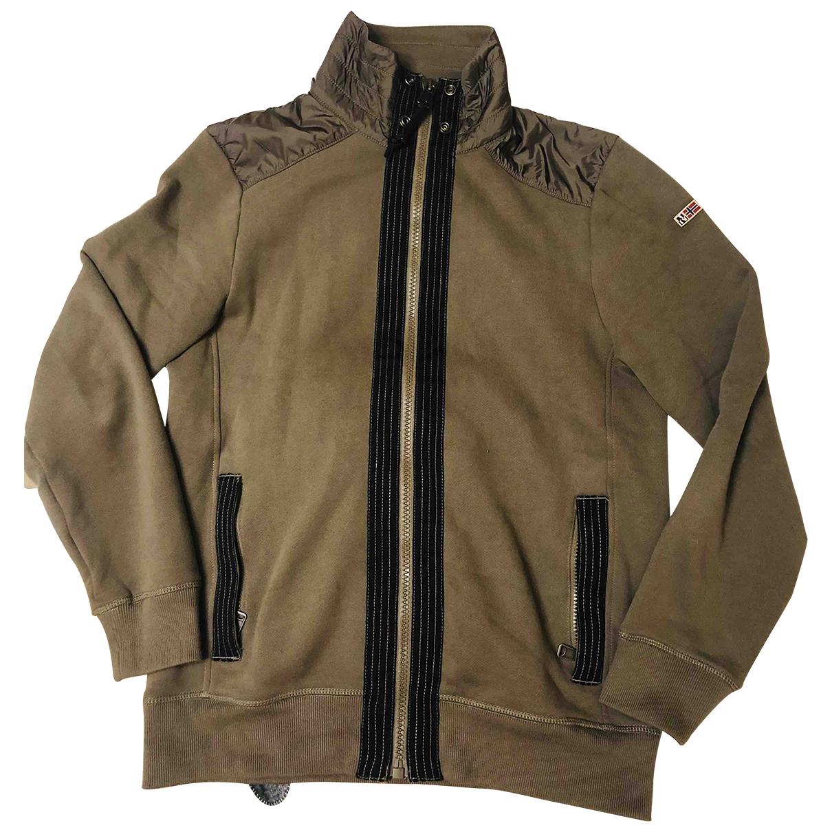 Napapijri \N Pullover.Westen.Sweatshirts  in  Gruen Baumwolle