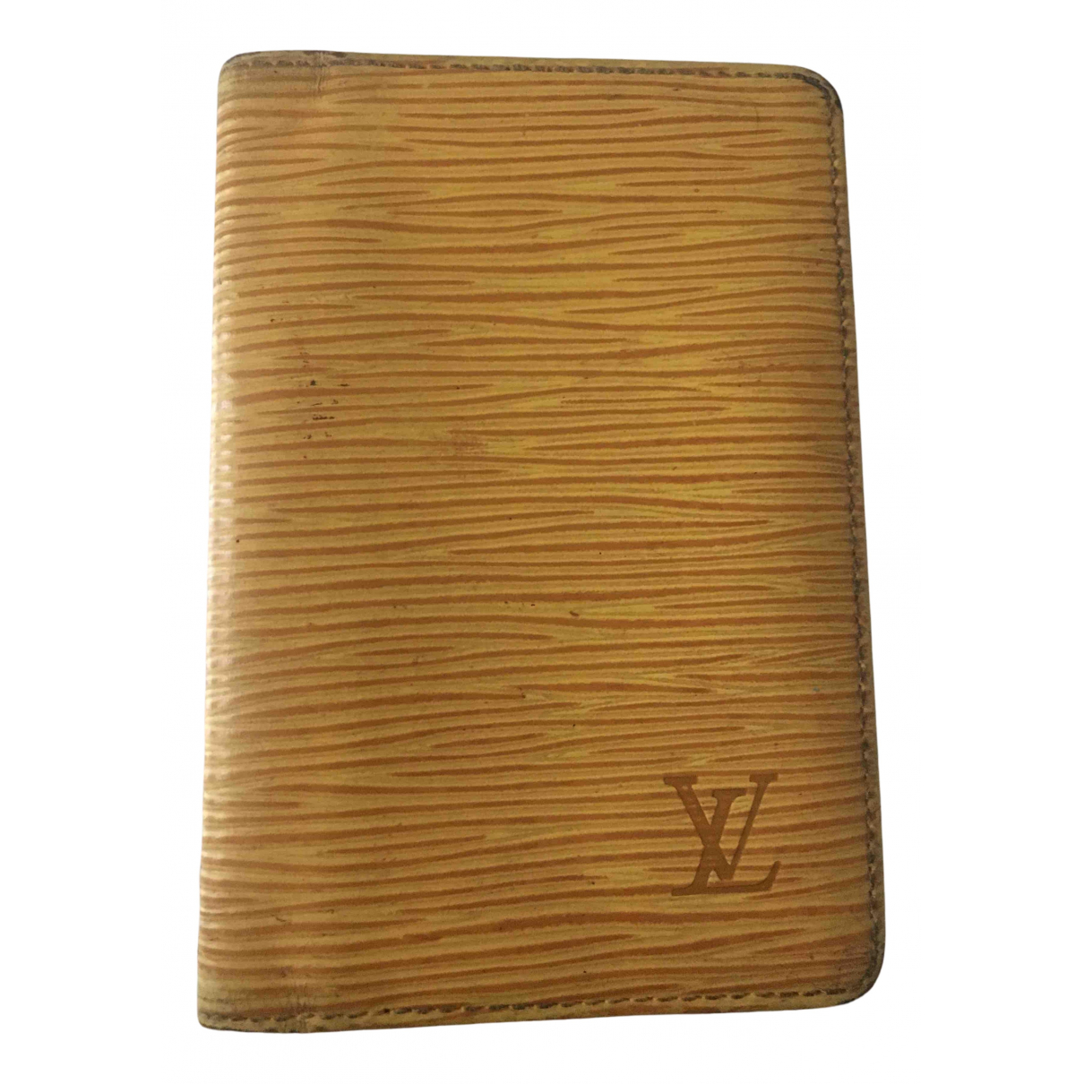 Louis Vuitton N Yellow Leather wallet for Women N