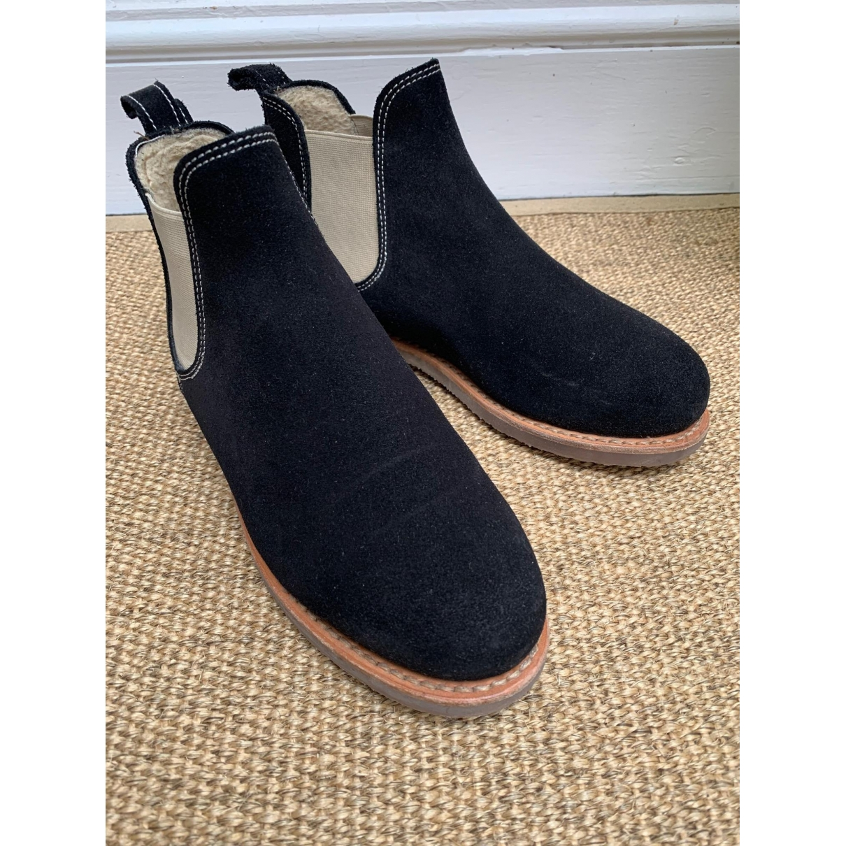 Penelope Chilvers \N Black Suede Ankle boots for Women 40 EU