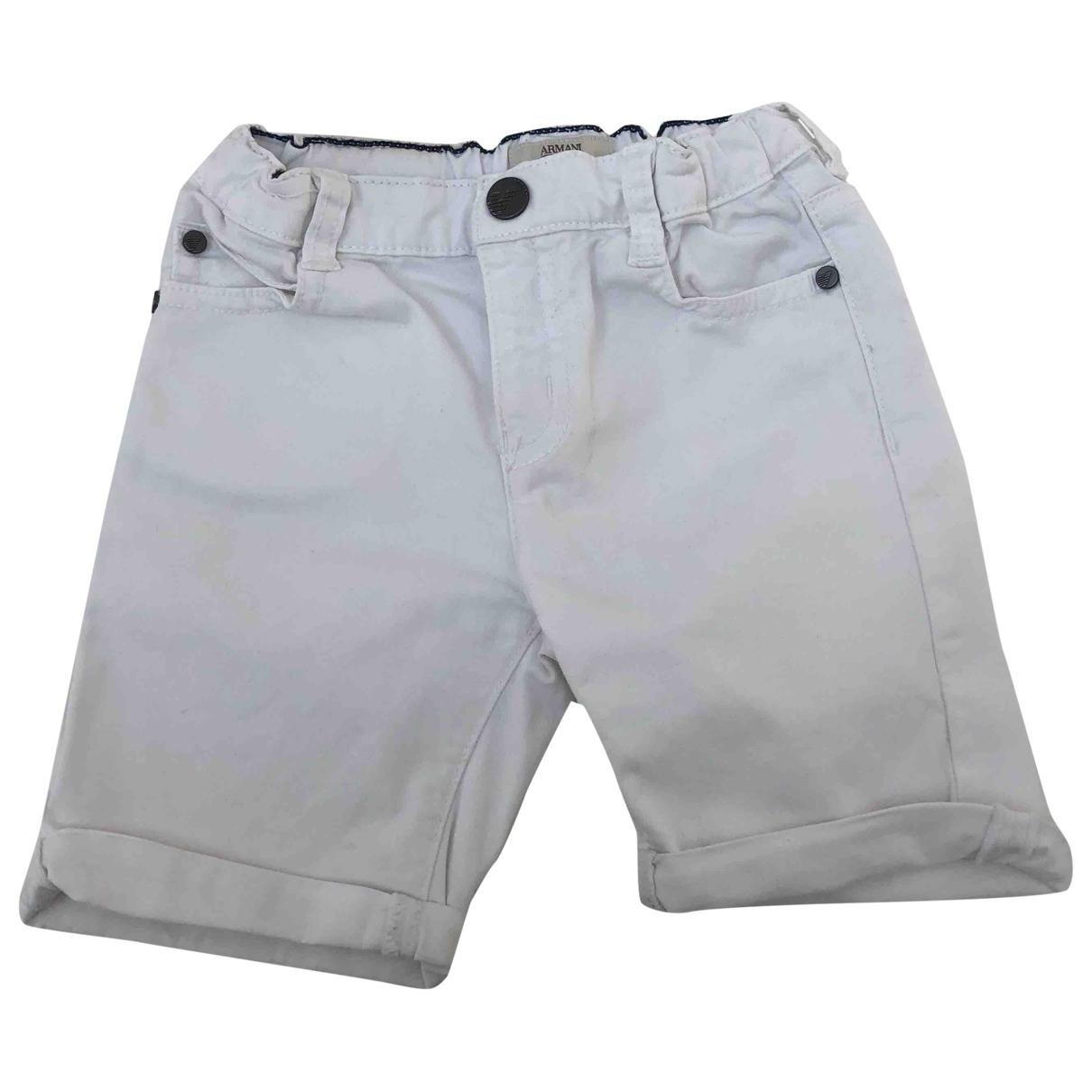 Armani Baby \N Shorts in  Weiss Baumwolle