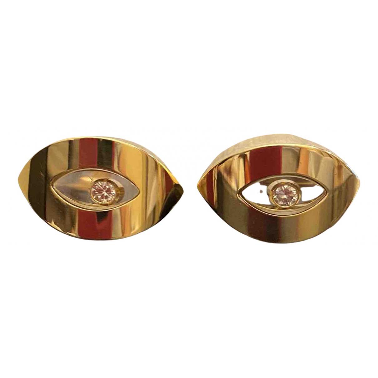 Chopard - Boucles doreilles Happy Diamonds pour femme en or jaune - jaune