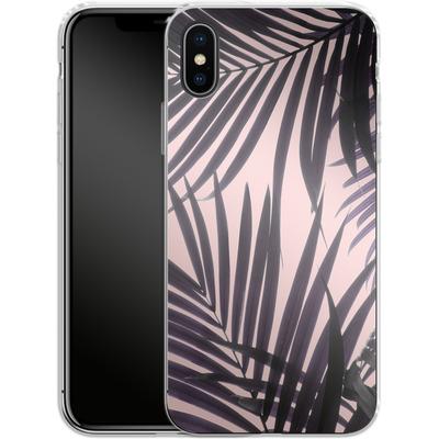 Apple iPhone X Silikon Handyhuelle - Delicate Jungle Theme von Emanuela Carratoni