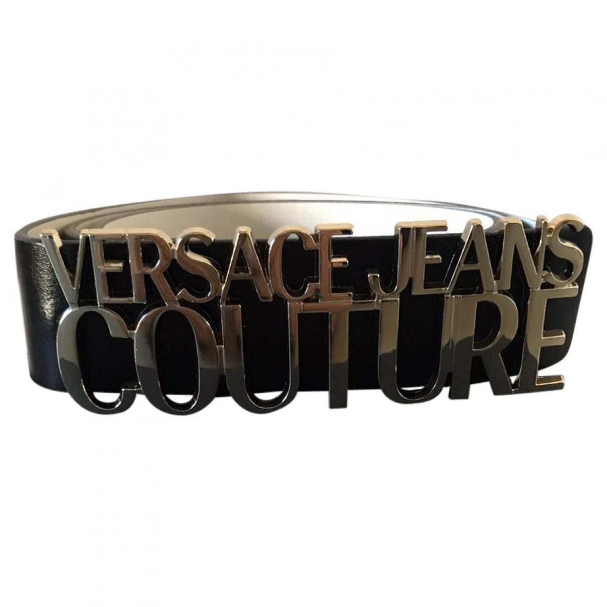 Versace Jean - Ceinture   pour femme en cuir - noir