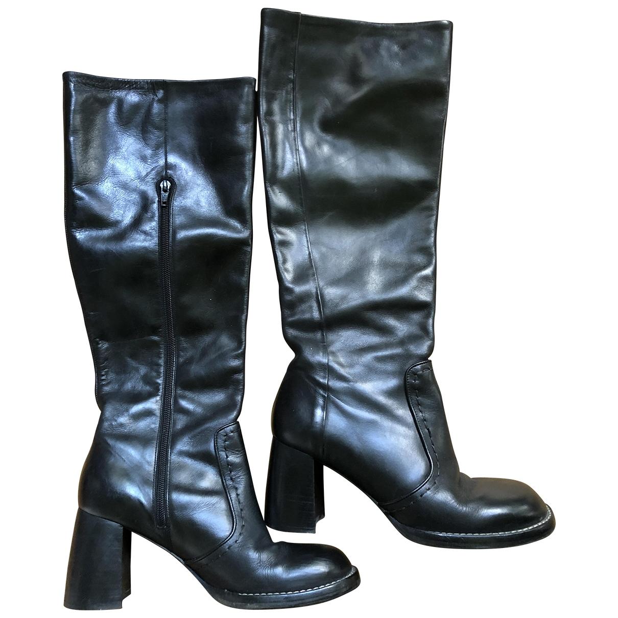 Joseph \N Stiefel in  Schwarz Leder