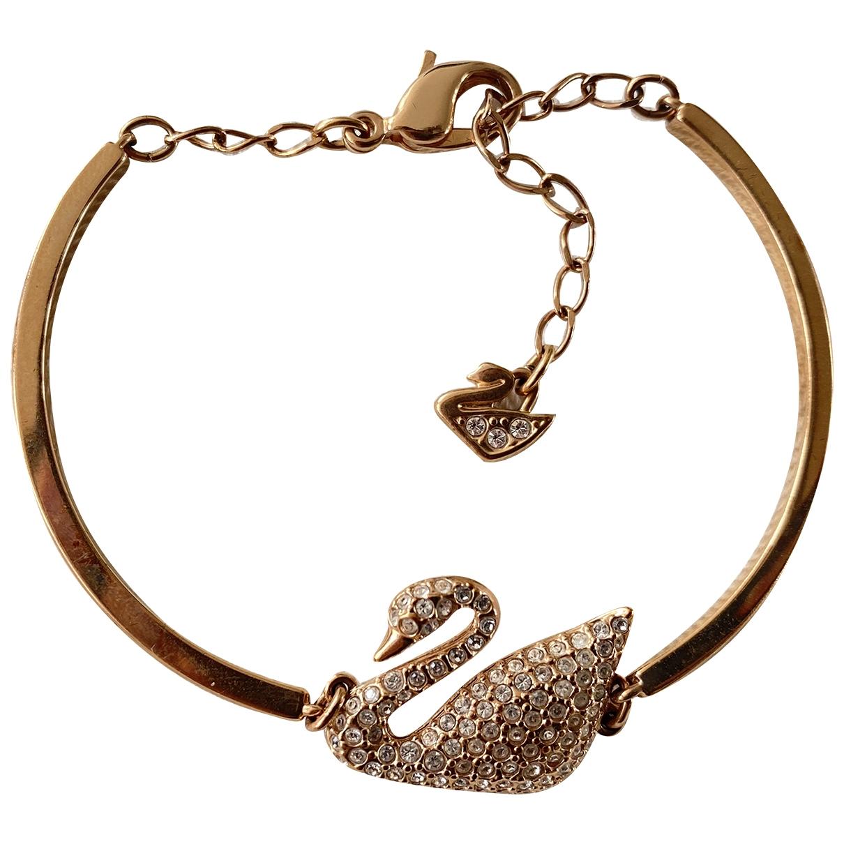 Swarovski - Bracelet Fit pour femme en plaque or - dore