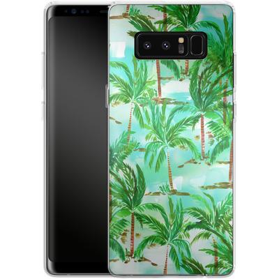 Samsung Galaxy Note 8 Silikon Handyhuelle - Palm Tree Green von Amy Sia