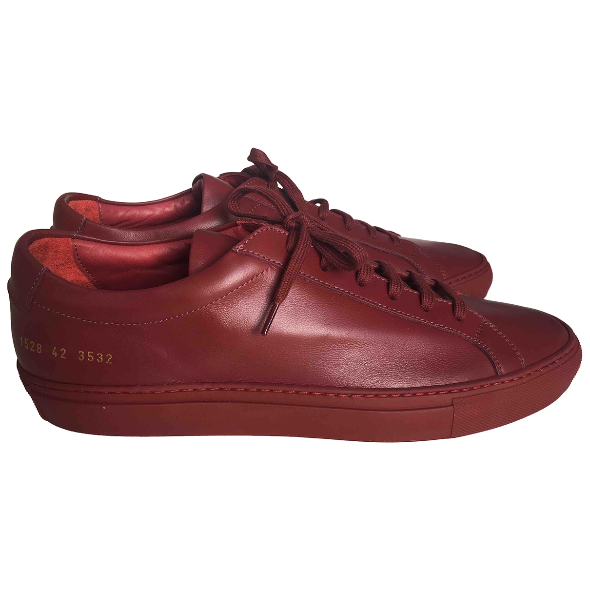 Common Projects \N Burgundy Leather Trainers for Men 42 EU