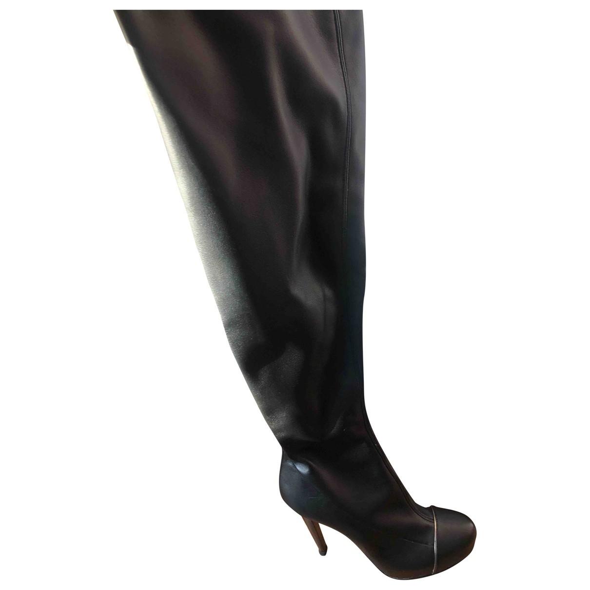 Diego Dolcini - Bottes   pour femme en cuir - noir