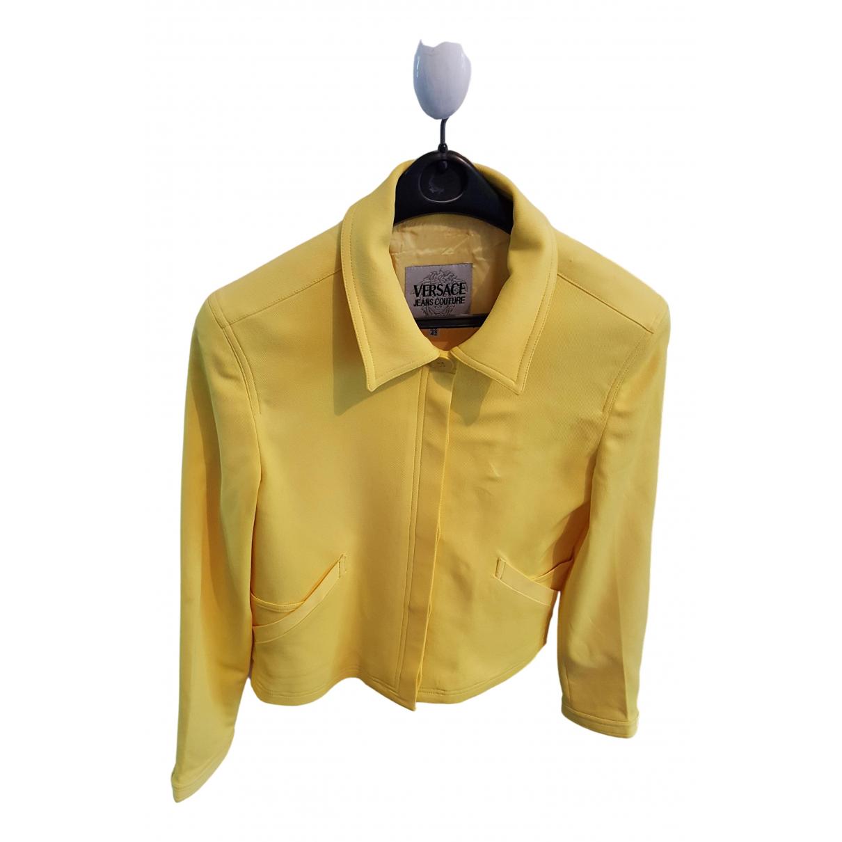 Versace Jeans \N Jacke in  Gelb Polyester