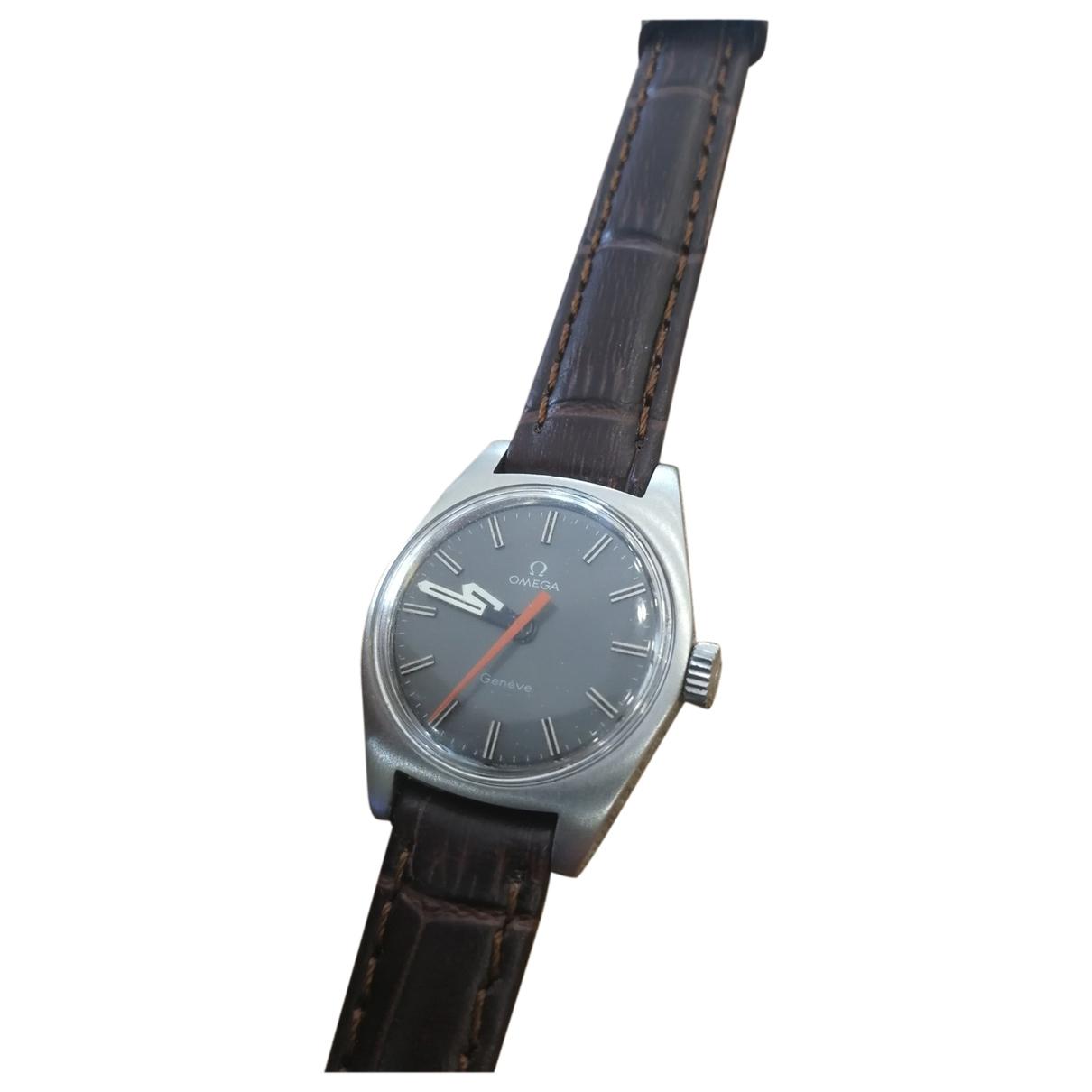 Omega \N Brown Steel watch for Women \N