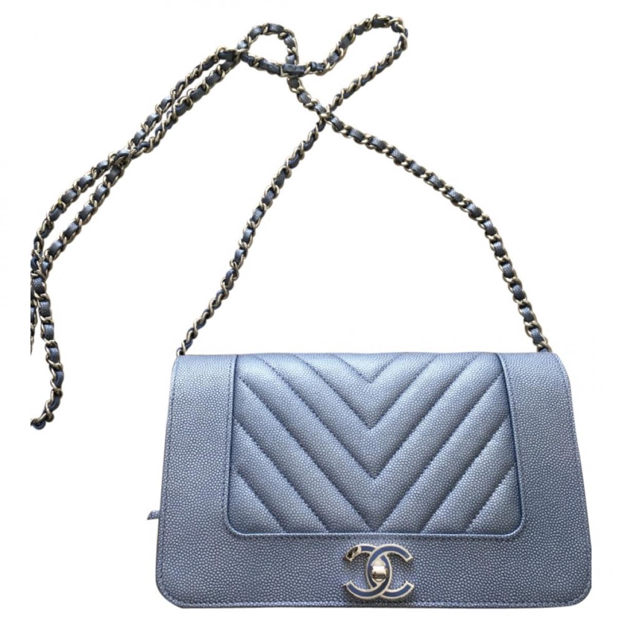Chanel Diana Blue Leather handbag for Women \N