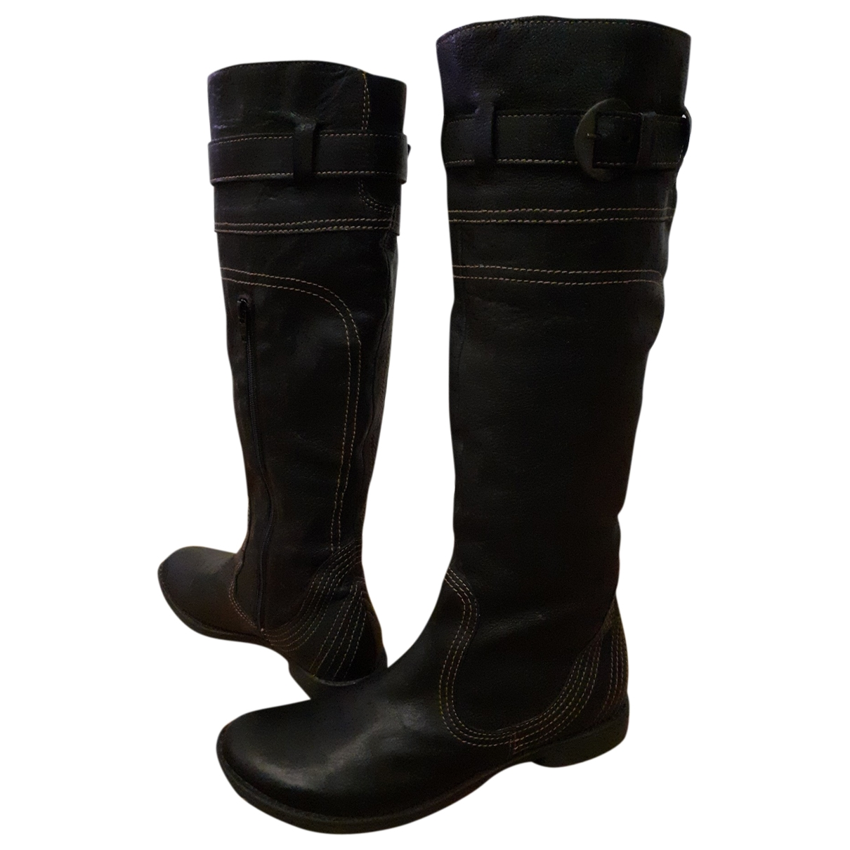 Adolfo Dominguez \N Brown Leather Boots for Women 40 EU