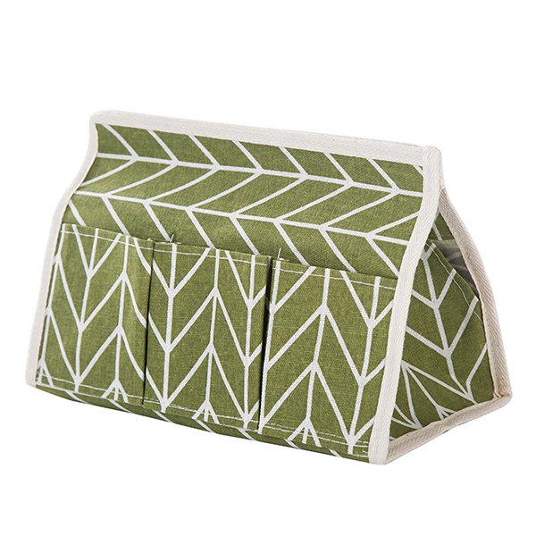 Creative Linen Cloth Tissue Box Multifunctional Six-pocket Drawer Box Desktop Storage Box