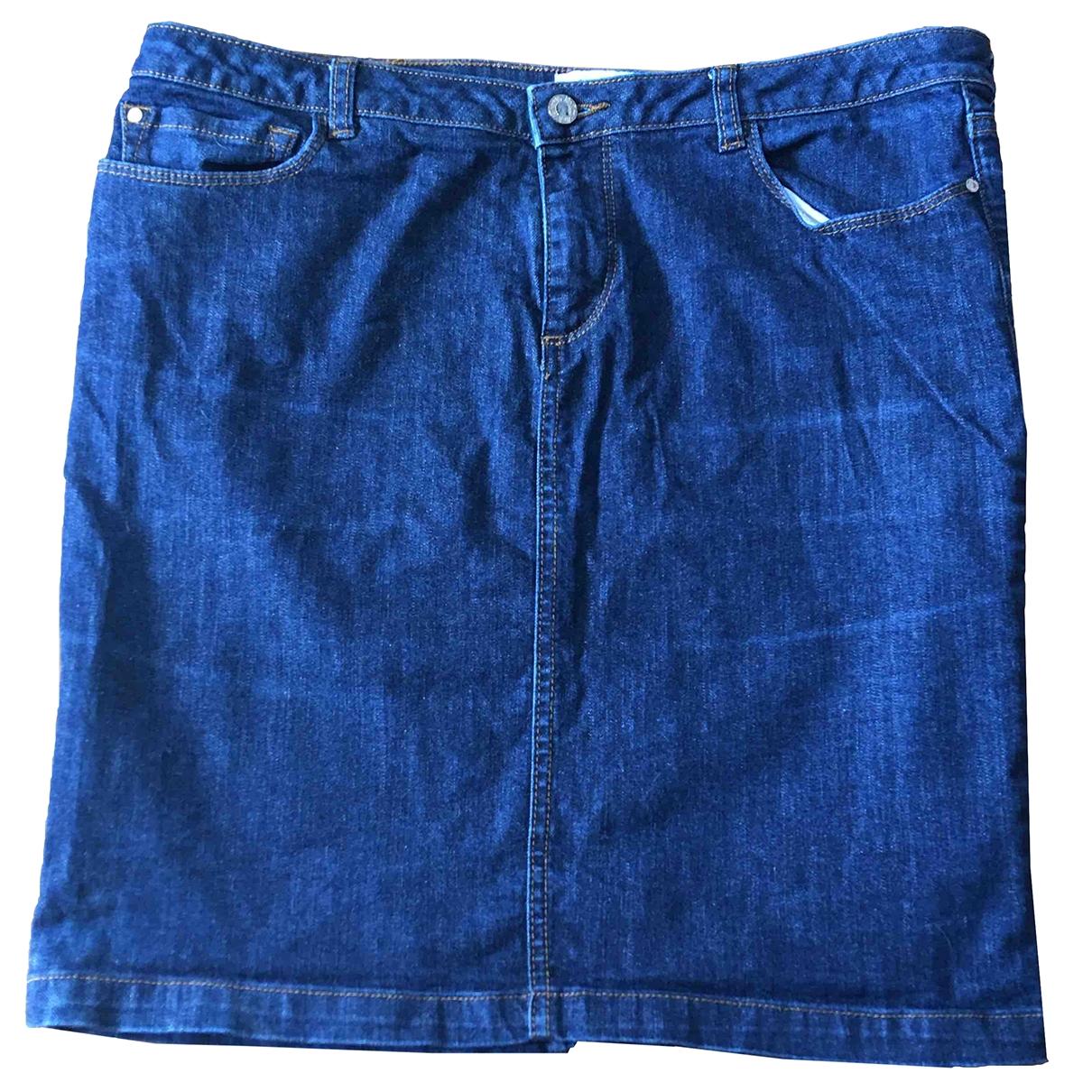 Pedro Del Hierro - Jupe   pour femme en denim - bleu