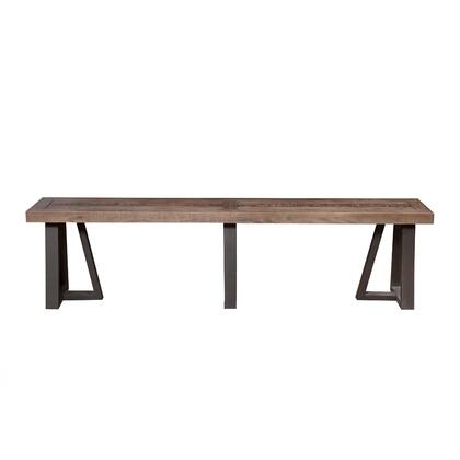 BM171852 Wood And Metal Dining Bench