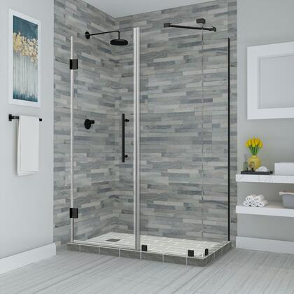 SEN967EZ-ORB-422836-10 Bromley 41.25 To 42.25 X 36.375 X 72 Frameless Corner Hinged Shower Enclosure In Oil Rubbed