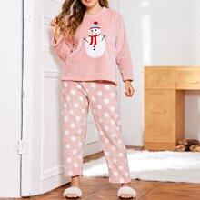 Conjunto de pijama con patron de lunares