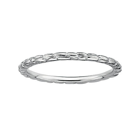 Personally Stackable Sterling Silver Stackable 1.5mm Twisted Ring, 7 , No Color Family
