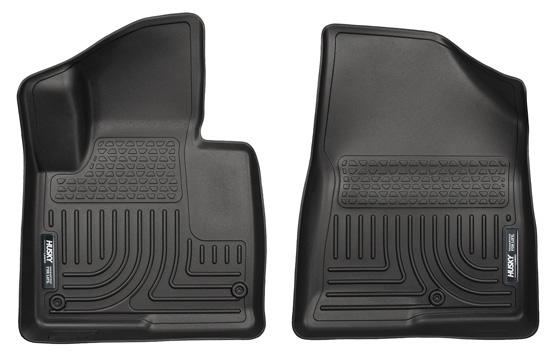 Husky Floor Liners Front 13-15 Hyundai Santa Fe Sport WeatherBeater-Black