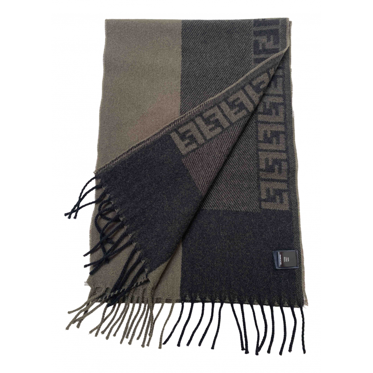 Fendi \N Tuecher, Schal in  Gruen Wolle