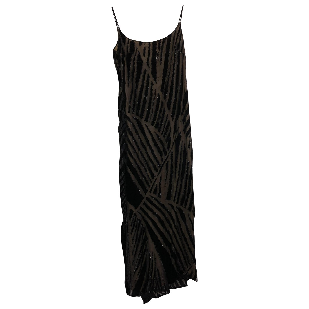 Elie Saab \N Black Silk dress for Women 46 IT