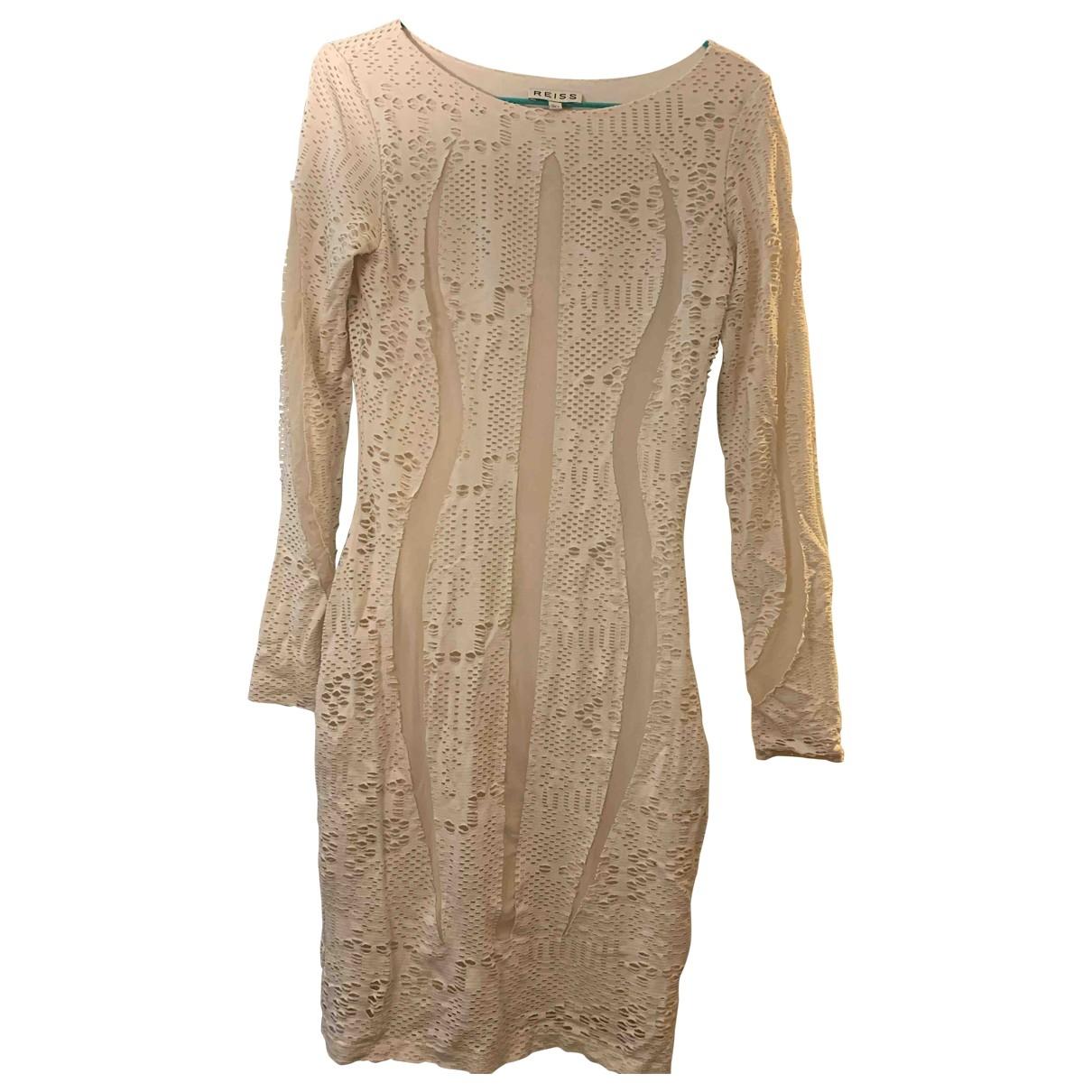 Reiss \N Kleid in  Ecru Polyester