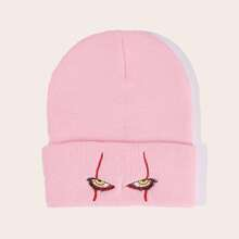 Eyes Embroidery Knitted Beanie