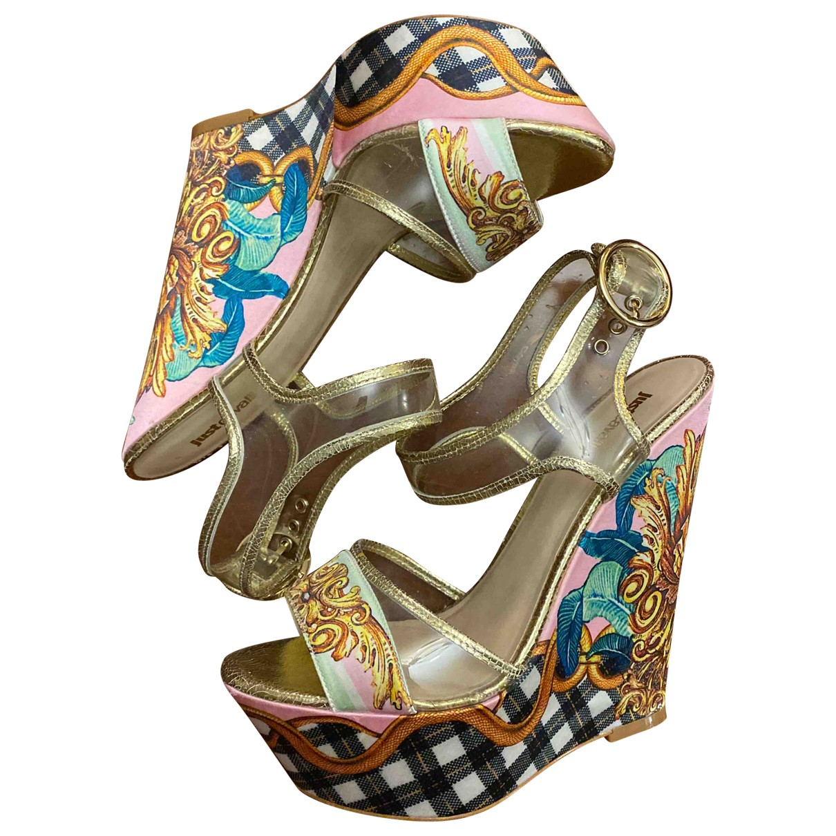 Just Cavalli - Sandales   pour femme en a paillettes - multicolore