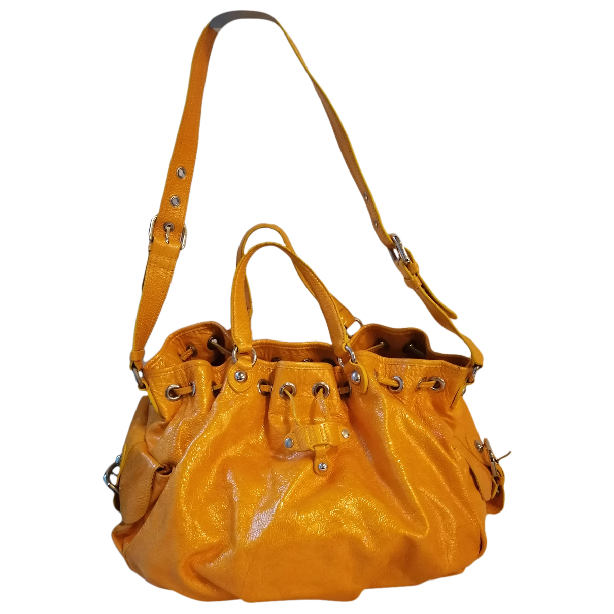 Moschino Cheap And Chic - Sac a main   pour femme en cuir verni - jaune