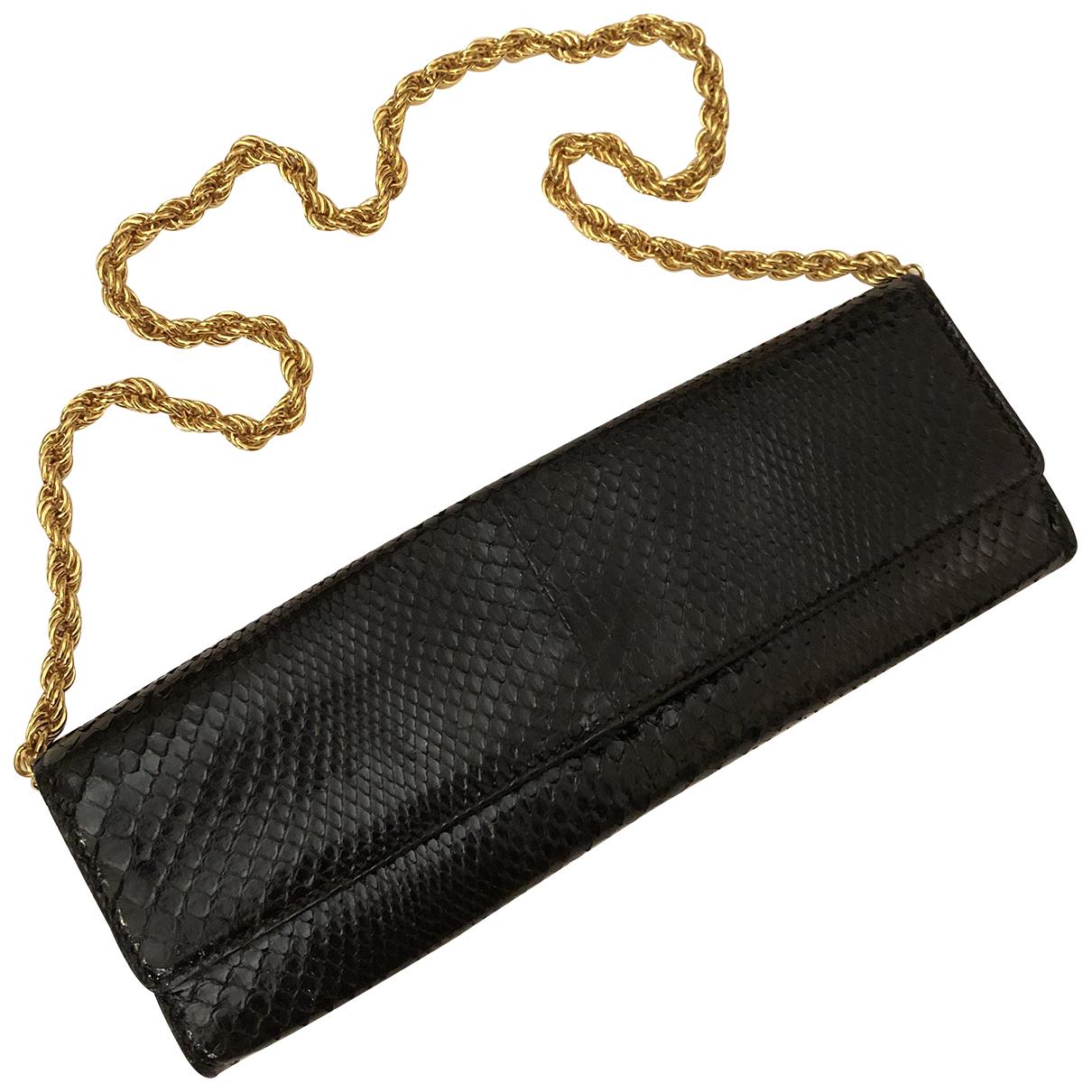 Roberto Cavalli N Black Python Clutch bag for Women N