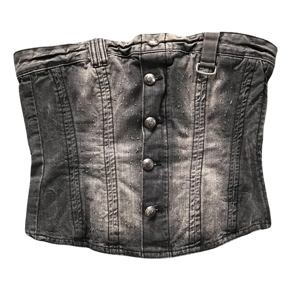 Gestuz \N Grey Denim - Jeans  top for Women S International