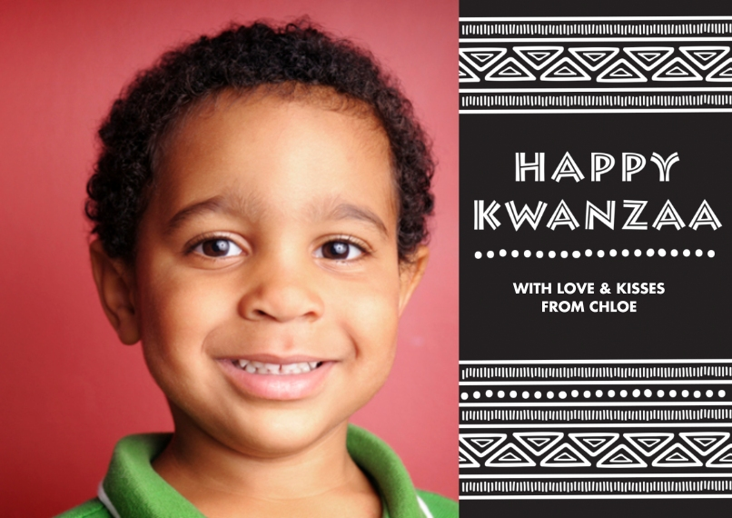 Kwanzaa Photo Cards 5x7 Cards, Premium Cardstock 120lb with Elegant Corners, Card & Stationery -Tribal Kwanzaa