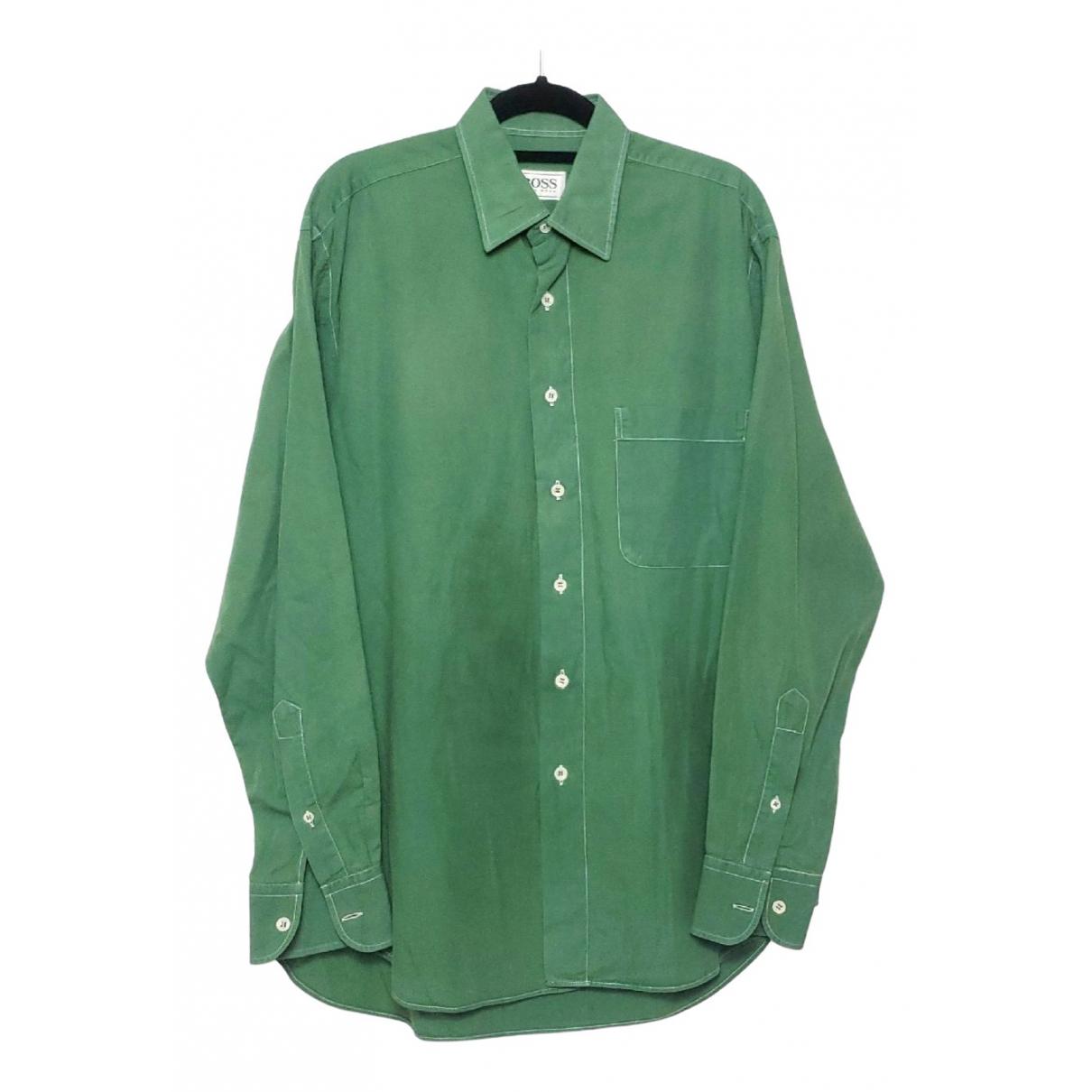 Boss \N Green Cotton Shirts for Men XS International