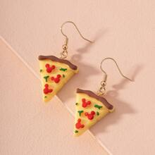 Ohrringe mit Pizza Dekor
