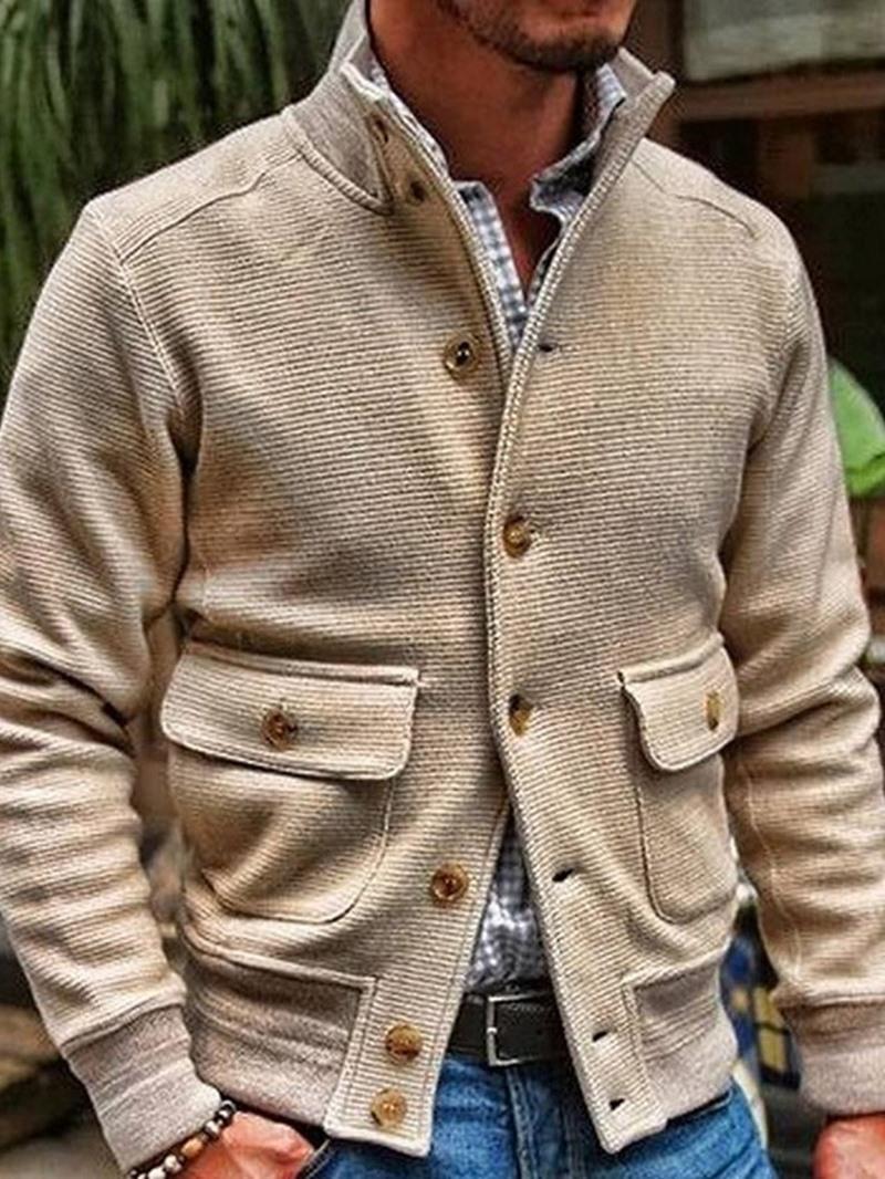 Ericdress Pocket Stand Collar Plain Fall Slim Jacket