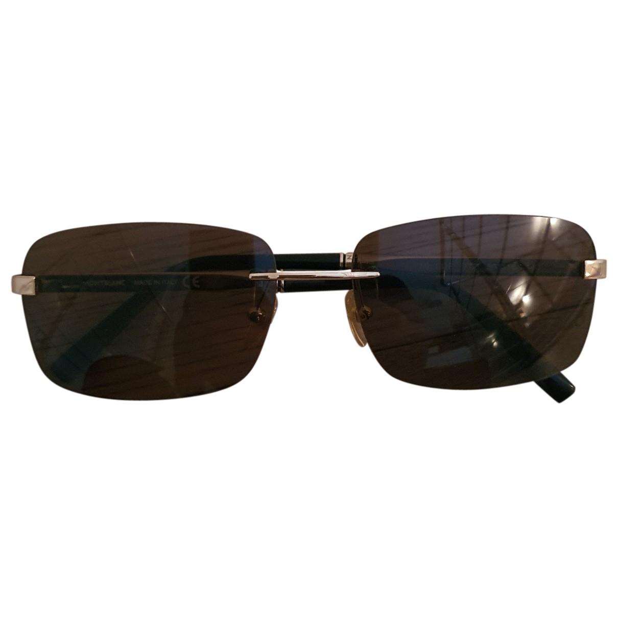 Montblanc \N Sonnenbrillen in  Braun Metall
