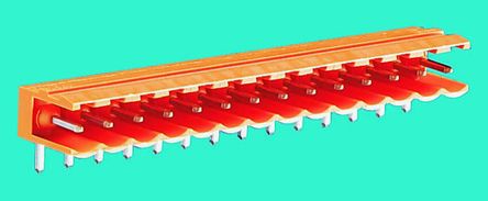 Weidmüller , OMNIMATE SL, 15 Way, 1 Row, Right Angle PCB Header (5)