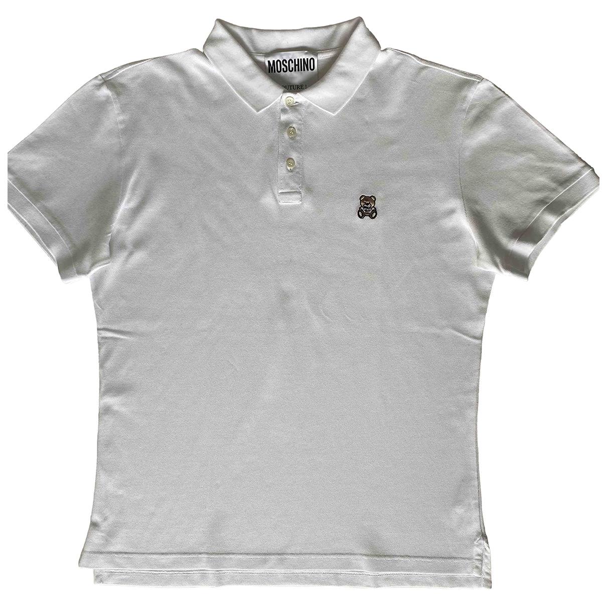 Moschino \N Poloshirts in  Weiss Baumwolle