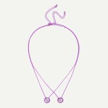 Anillo colgante collar 2pcs