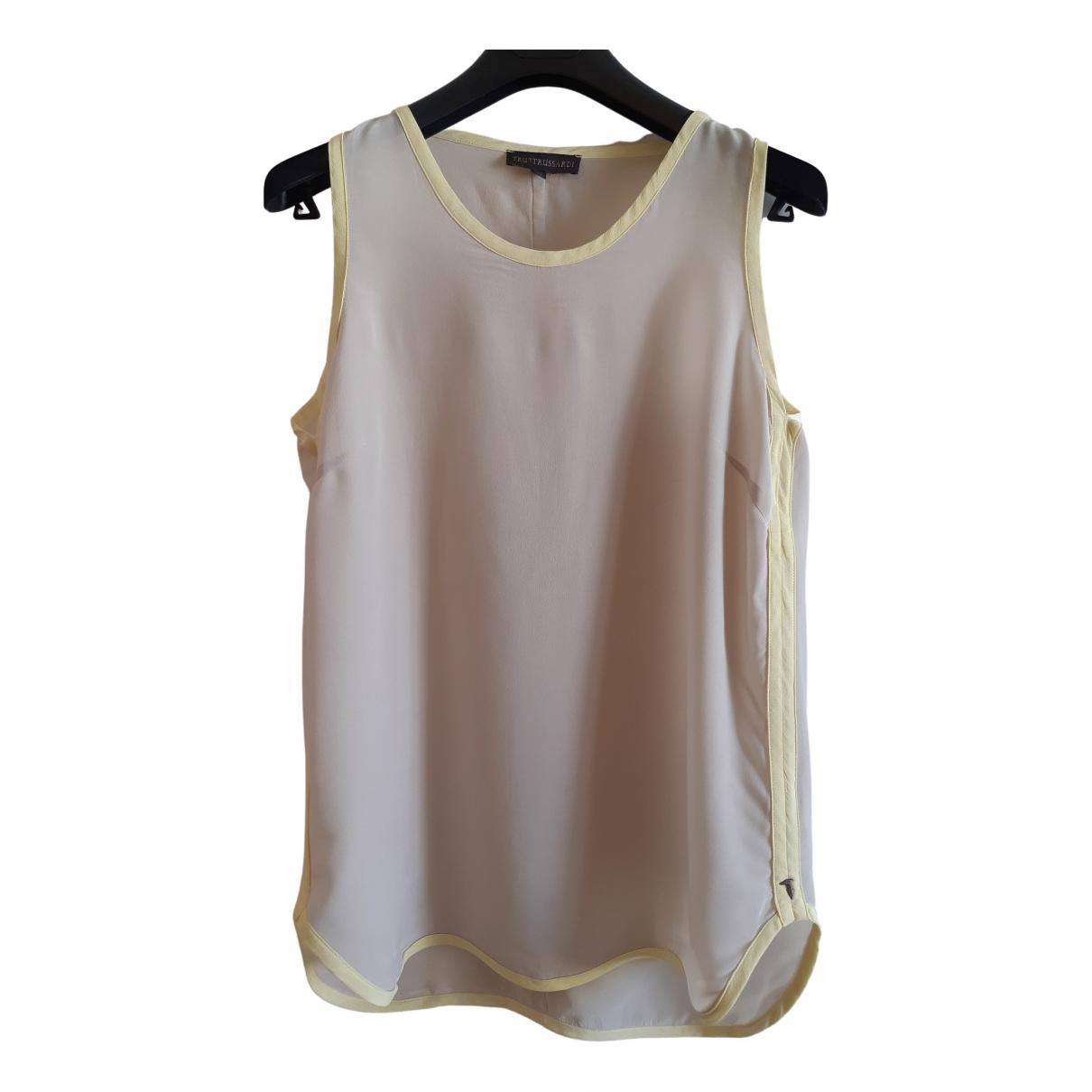 Camiseta sin mangas de Seda Trussardi