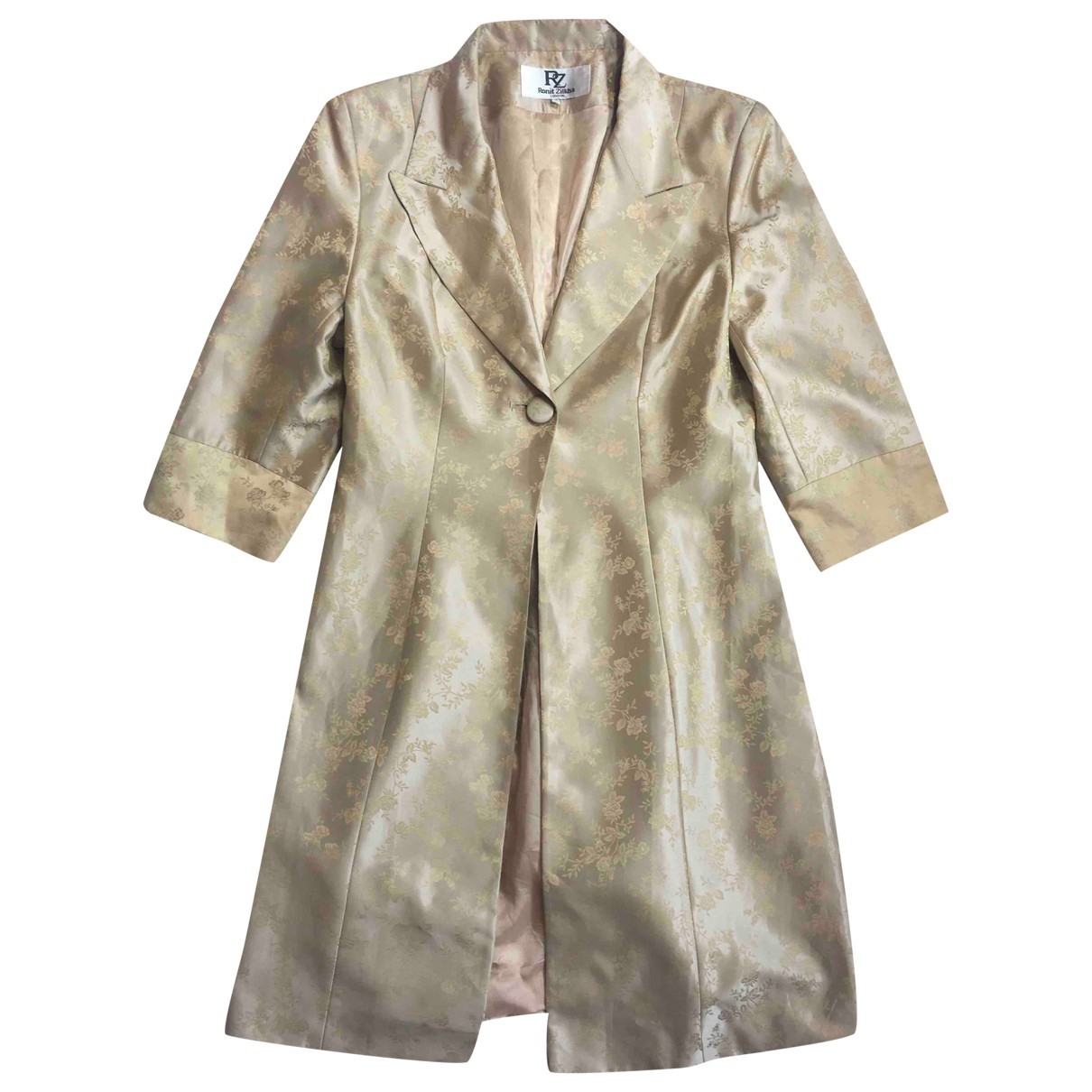 Non Signé / Unsigned \N Gold jacket for Women 12 UK